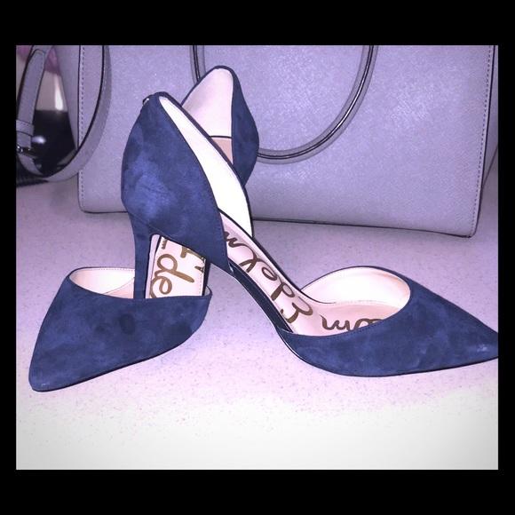 "9bdc1aeac51 Sam Edelman blue suede pumps 3"" heel. M 5ac64267a4c485cb9eae0474"